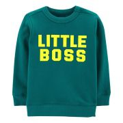 Moletonzinho Carter's Verde Little Boss
