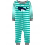 Pijama Baleia verde listrado Carters
