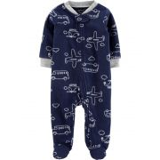 Pijama / Macacão Carters Transporte Fleece