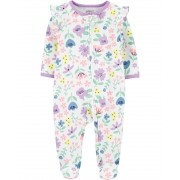 Pijama Sleep and Play Lilás Floral Carters