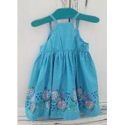 Vestido Azul Tartarugas