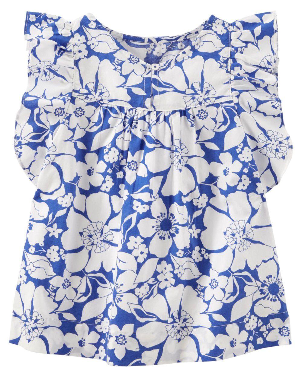 Bata Azul e Branco Floral OshKosh