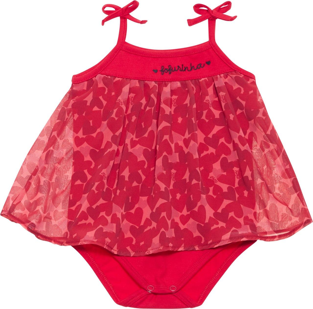 Body Vestido Fofurinha Nini & Bambini