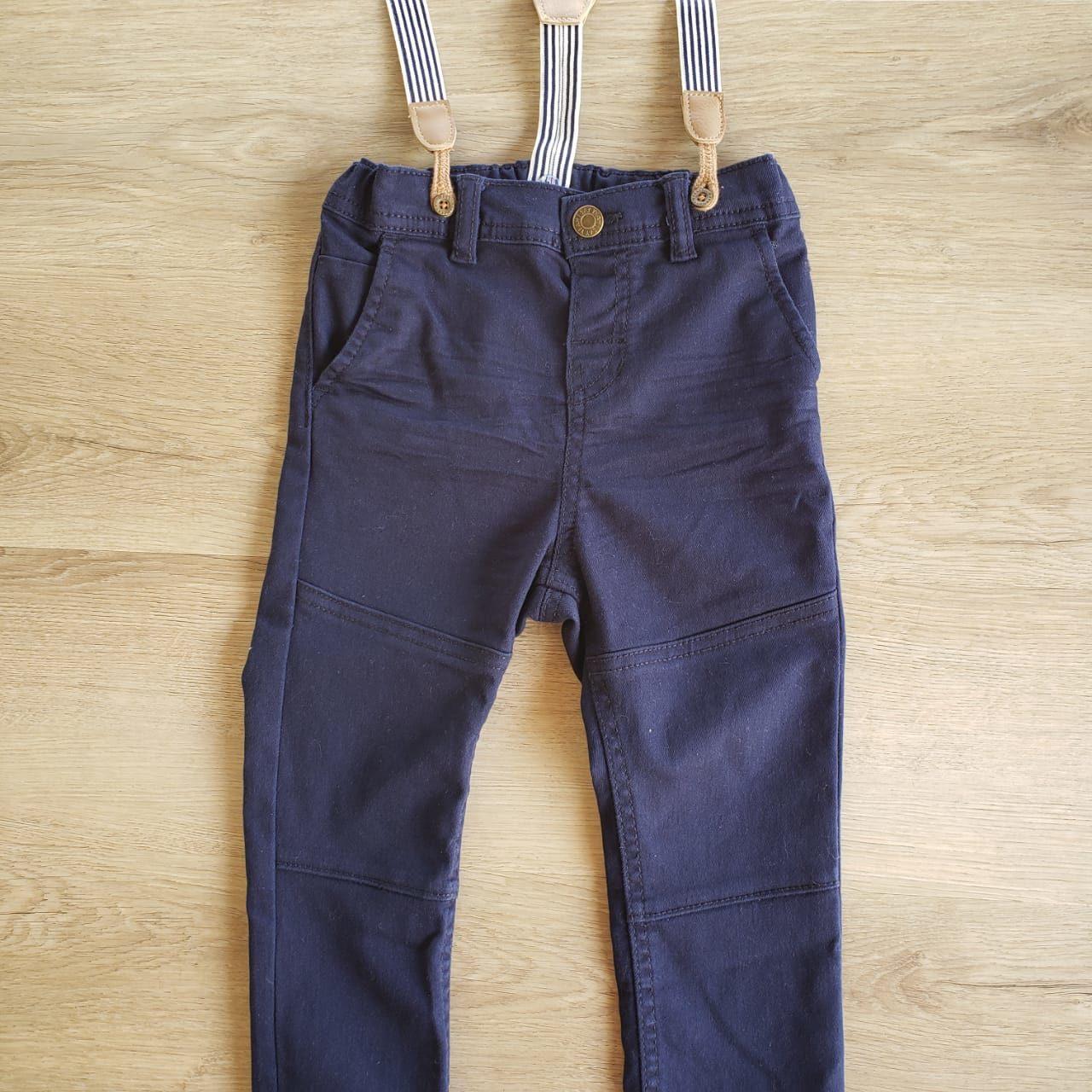 Calça Azul com suspensório H&M