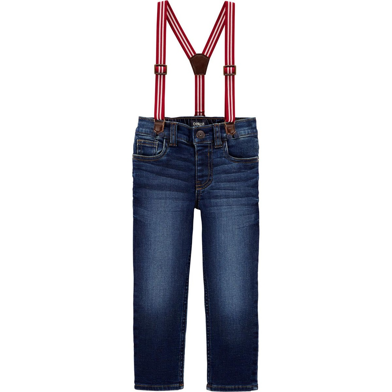 Calça Jeans com suspensório Oshkosh