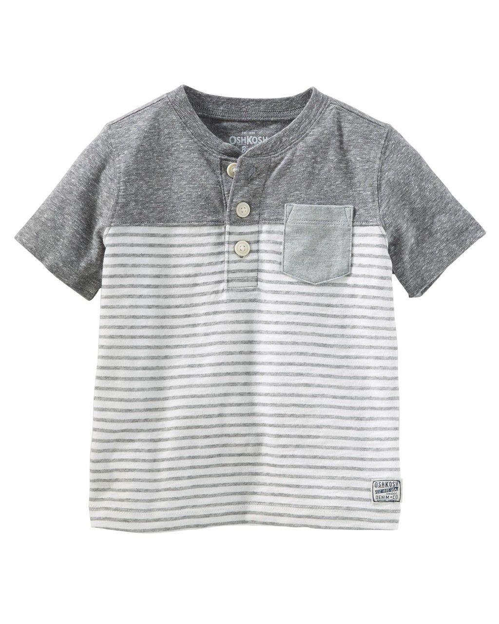 Camiseta Cinza com bolso Oshkosh