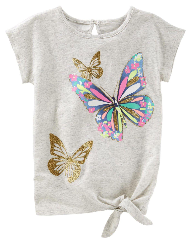 Camiseta OshKosh Borboleta Brilhante