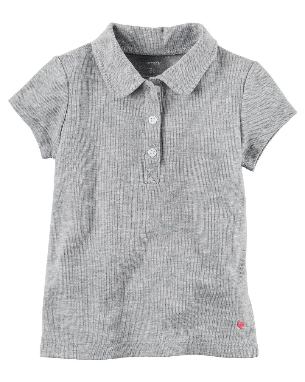 Camiseta Polo Cinza Carters