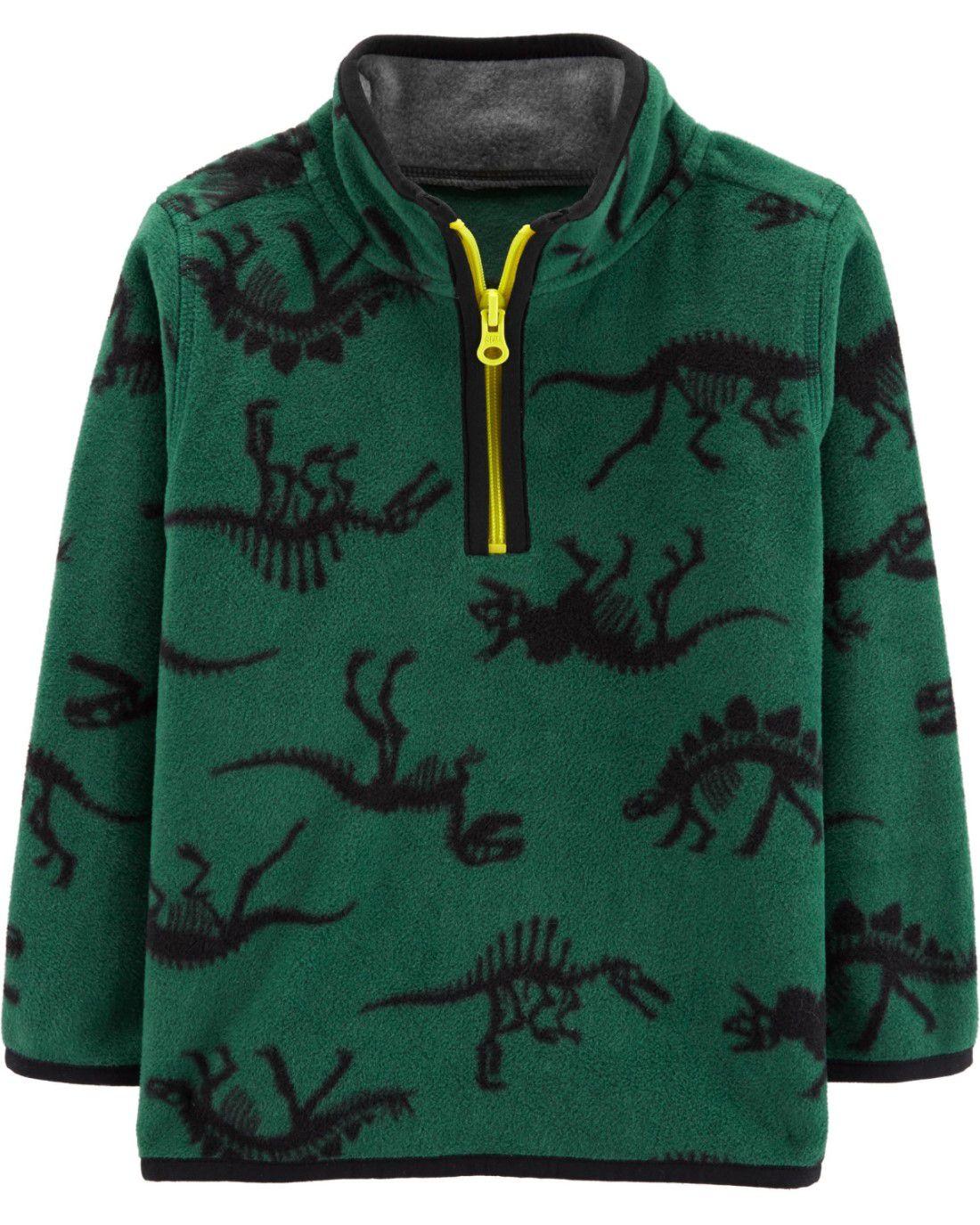 Casaquinho Carter's Verde Dino Fleece
