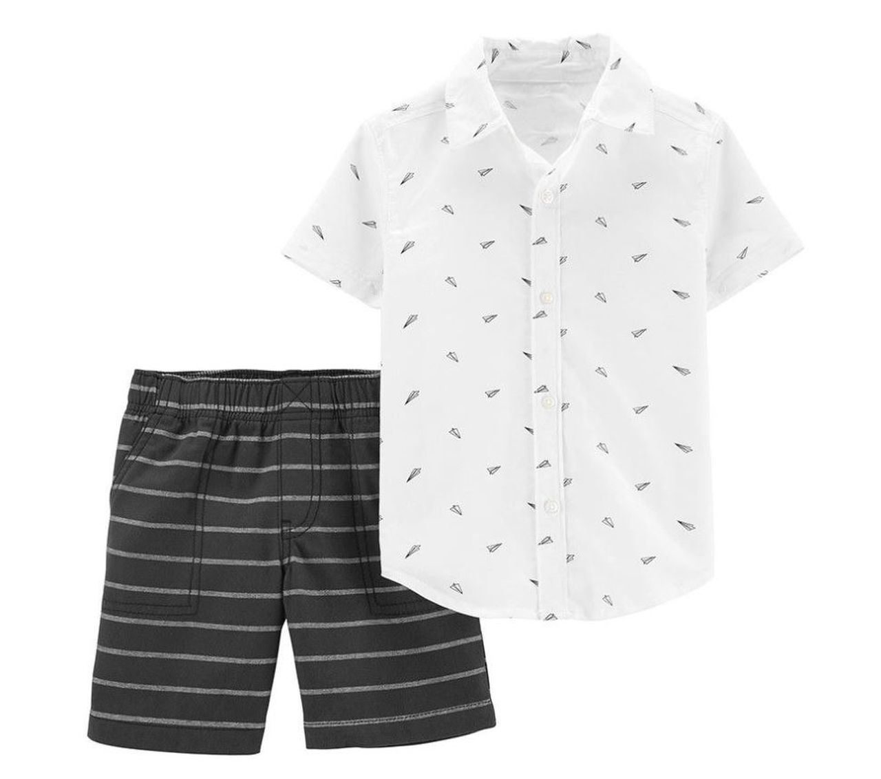 Conjunto Camisa aviõezinhos de papel Carters