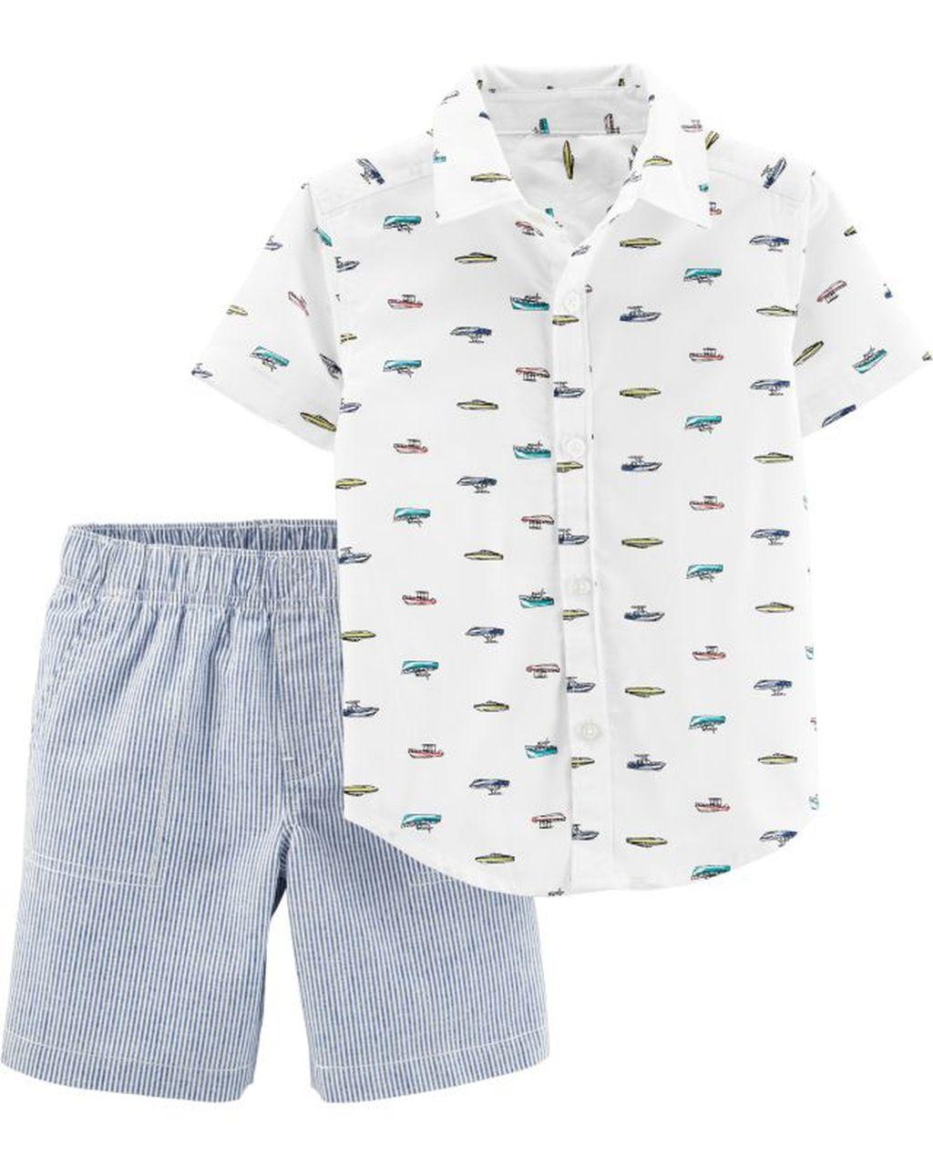 Conjunto Camisa Barcos Carters