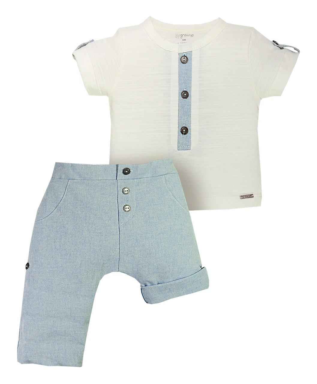 Conjunto Cape Tow com Shorts que vira Calça Grow Up