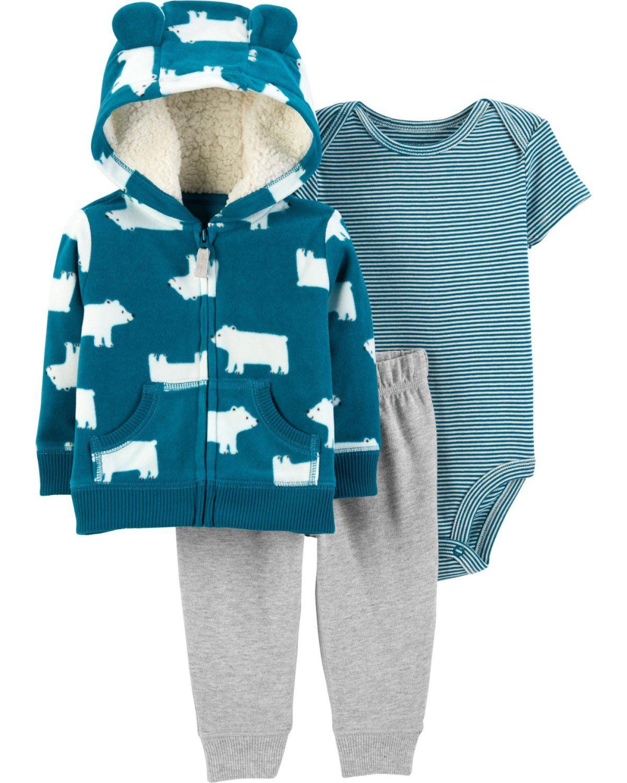 Conjunto Carter's Azul Ursos Fleece