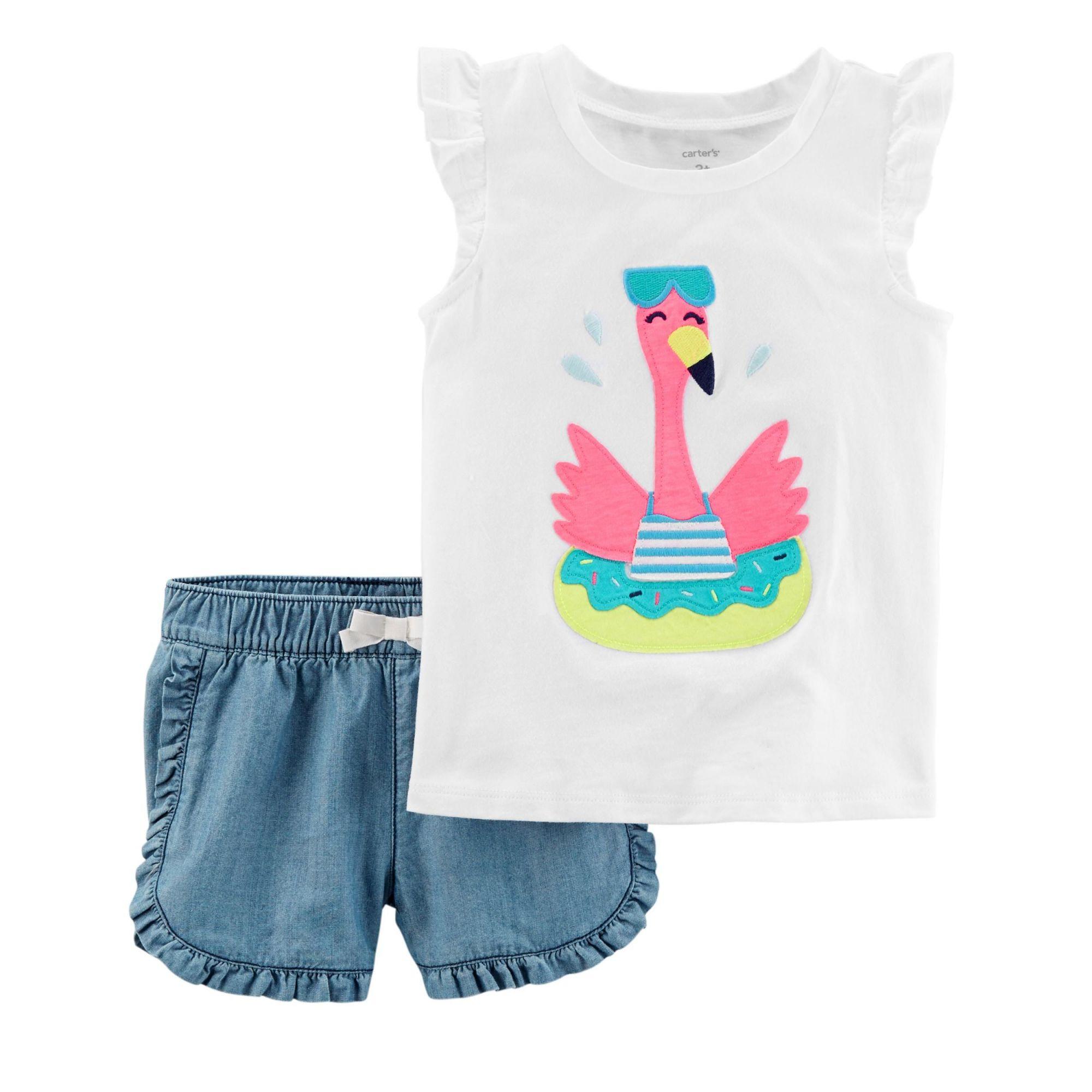 Conjunto Carter's Flamingo Nadador