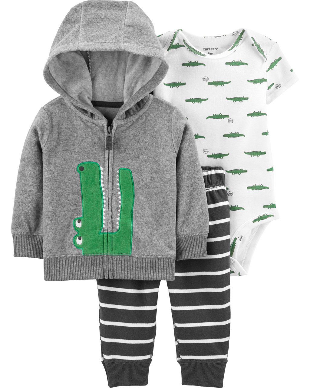 Conjunto Carters Jacaré fleece