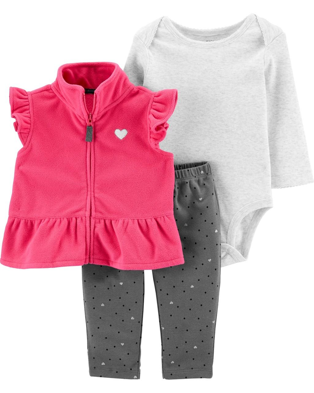 Conjunto Colete Pink Fleece
