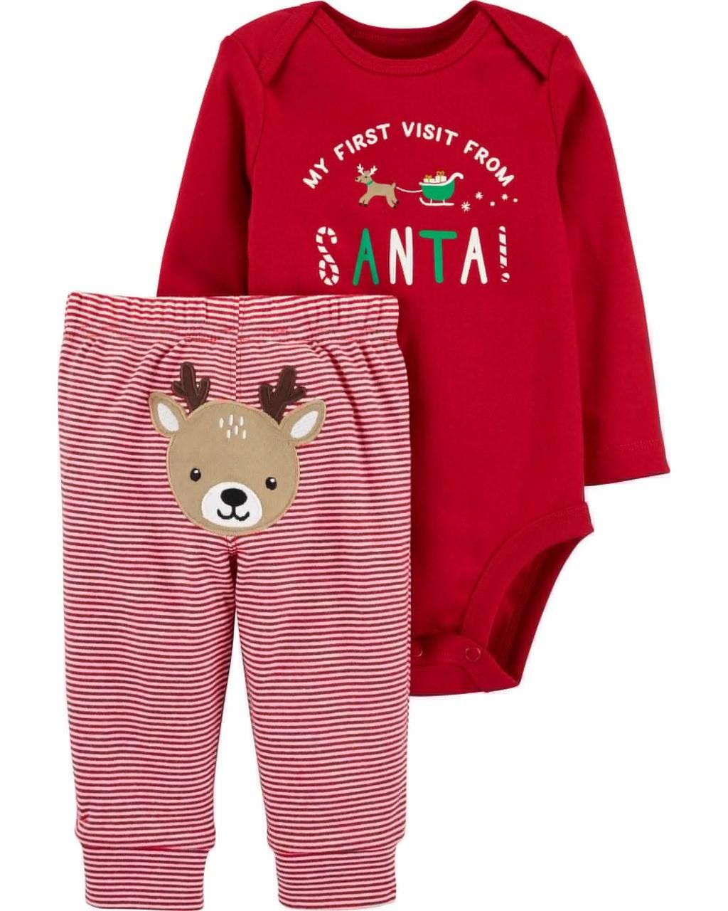 Conjunto Natal - Primeira visita do Papai Noel Carter's