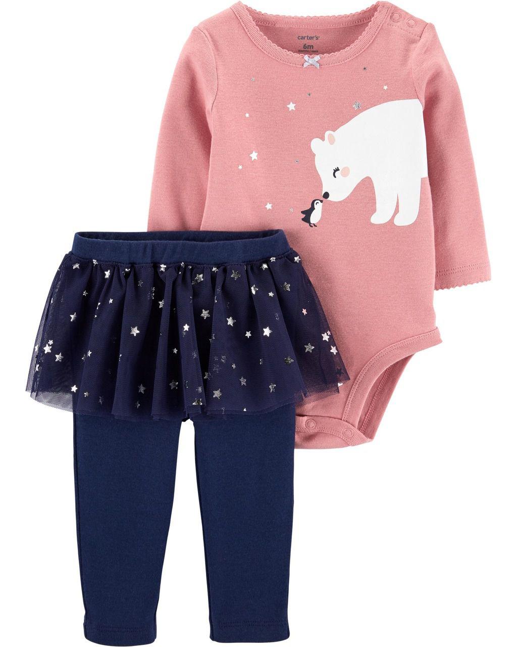 Conjunto Tutu Urso Polar Carter's
