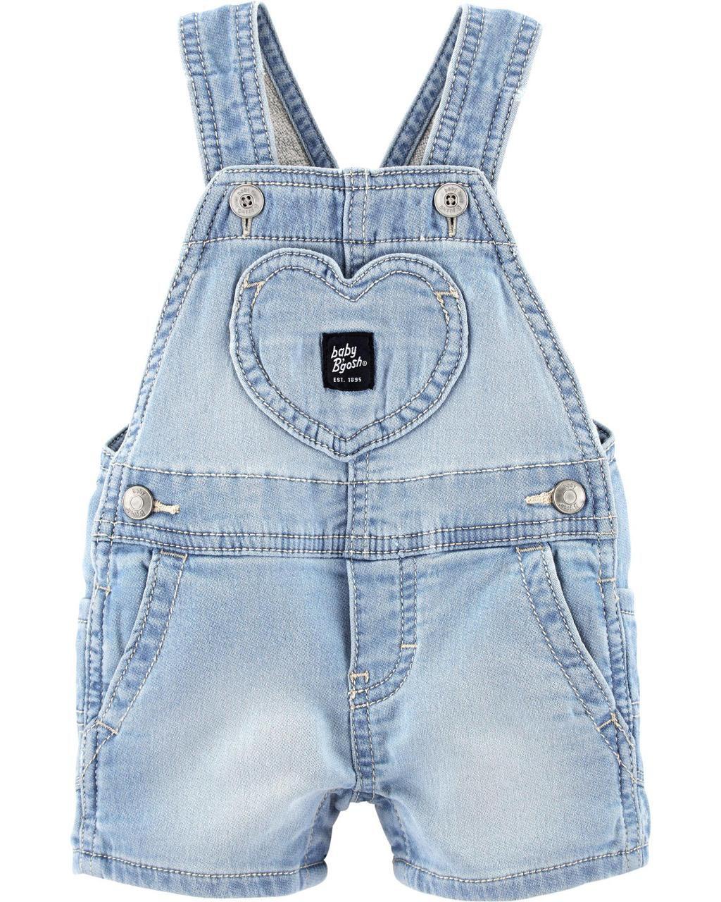 Jardineira Jeans baby Girl Oshkosh