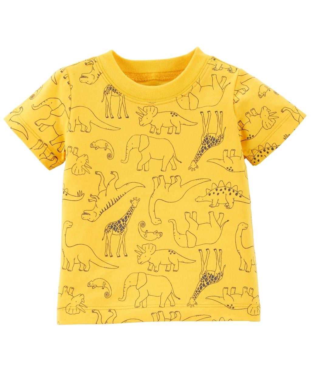 Jardineira Jeans e Camiseta Animais