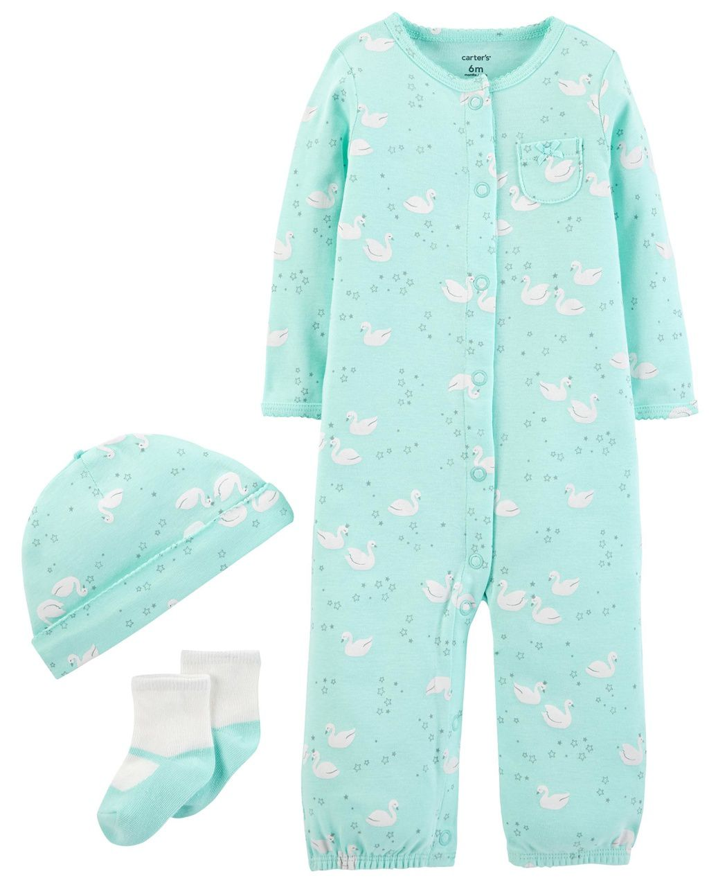 Kit Pijama /Macacão Carter's Take me Home Cisnes