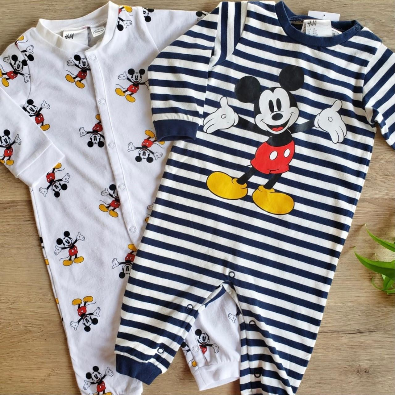 Kit Macacão e Pijama Mickey Mouse Disney Baby