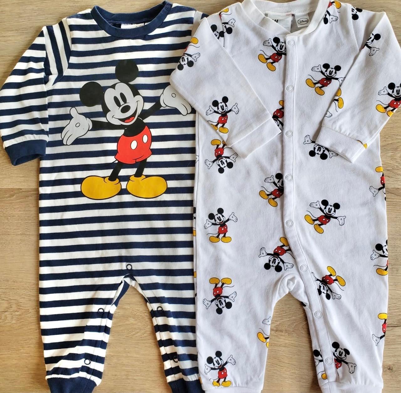 Kit Macacão e Pijama Mickey Mouse Disney Baby