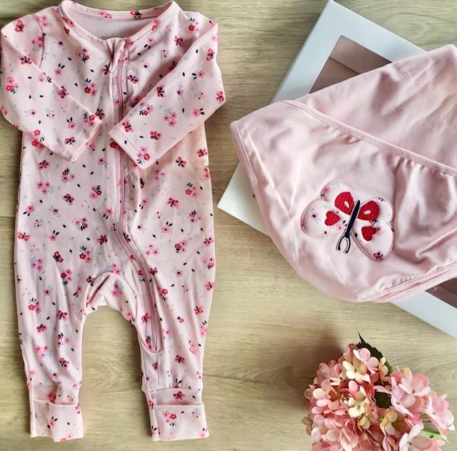 Kit Maternidade Flores e Borboletas Nini & Bambini