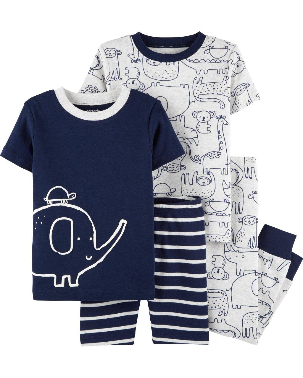 Kit Pijama Elephant Snug Fit Carter's