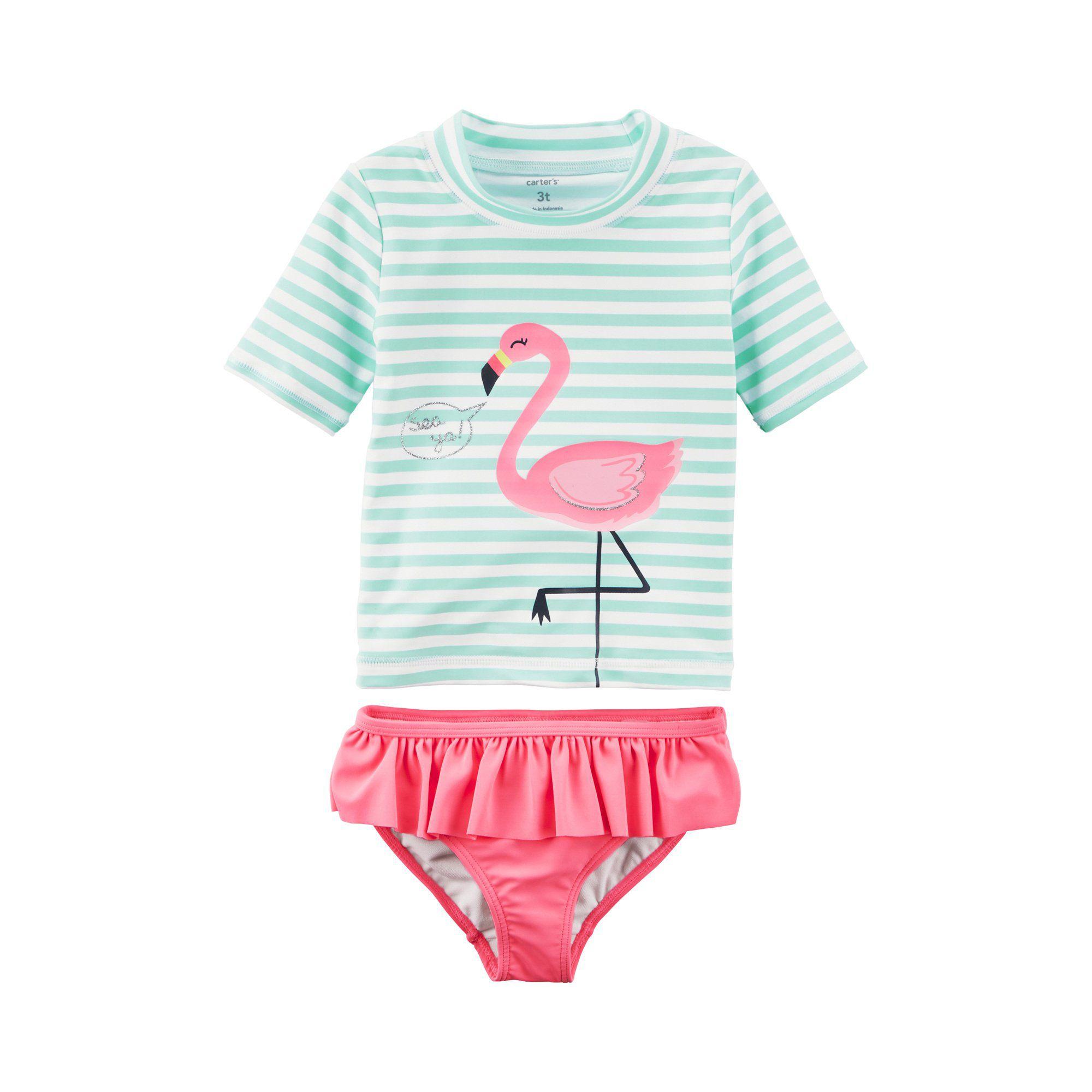 Kit Praia Carter's Flamingo