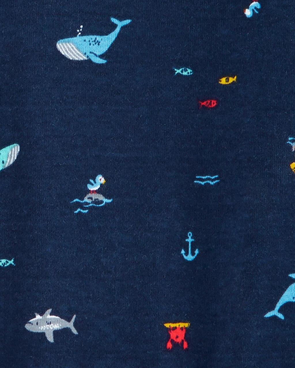 kit Romper Baleia e Tubarão