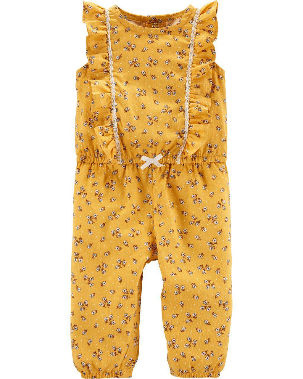 Macacão Amarelo florido Carters