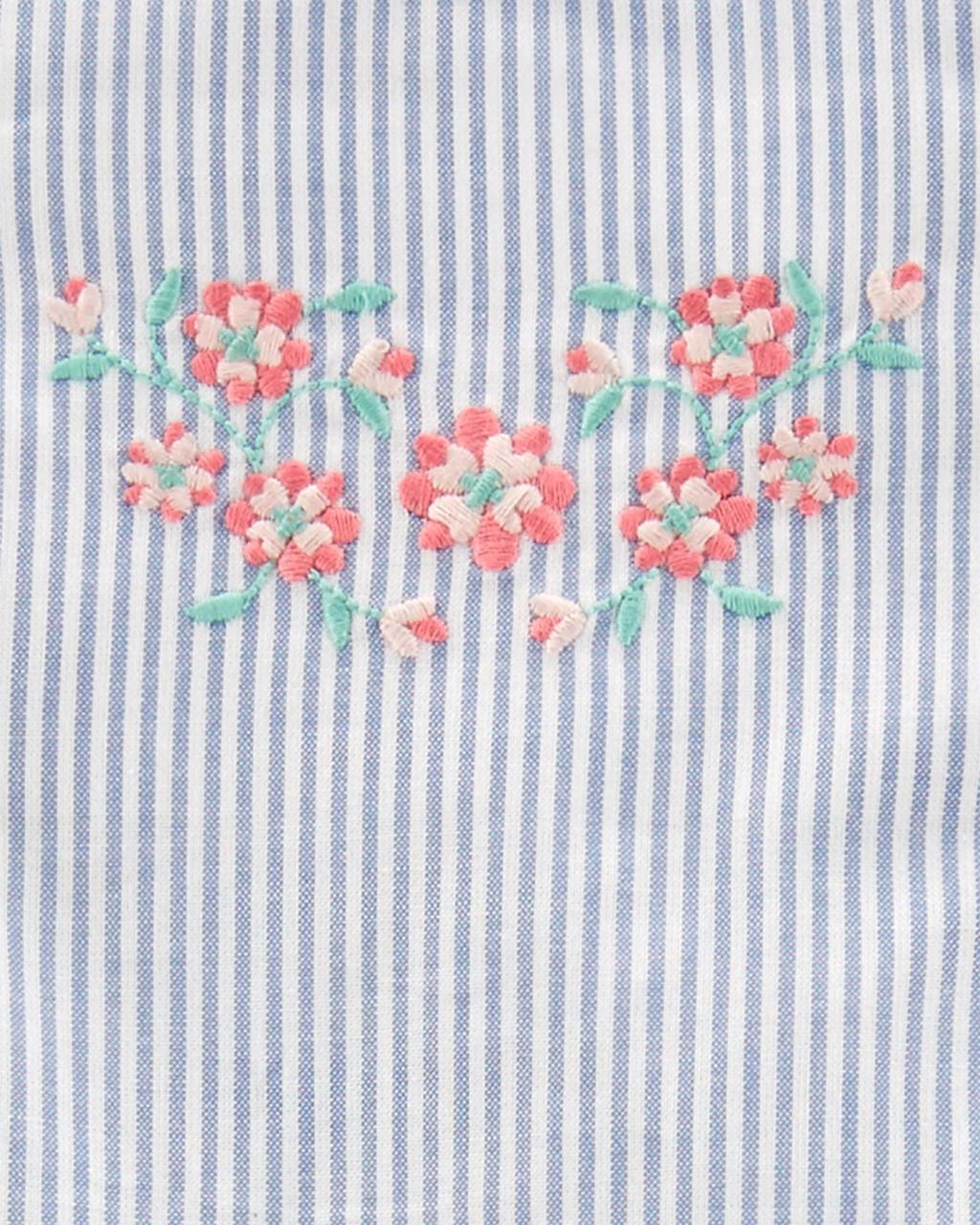 Macacão lIstrado floral Carters