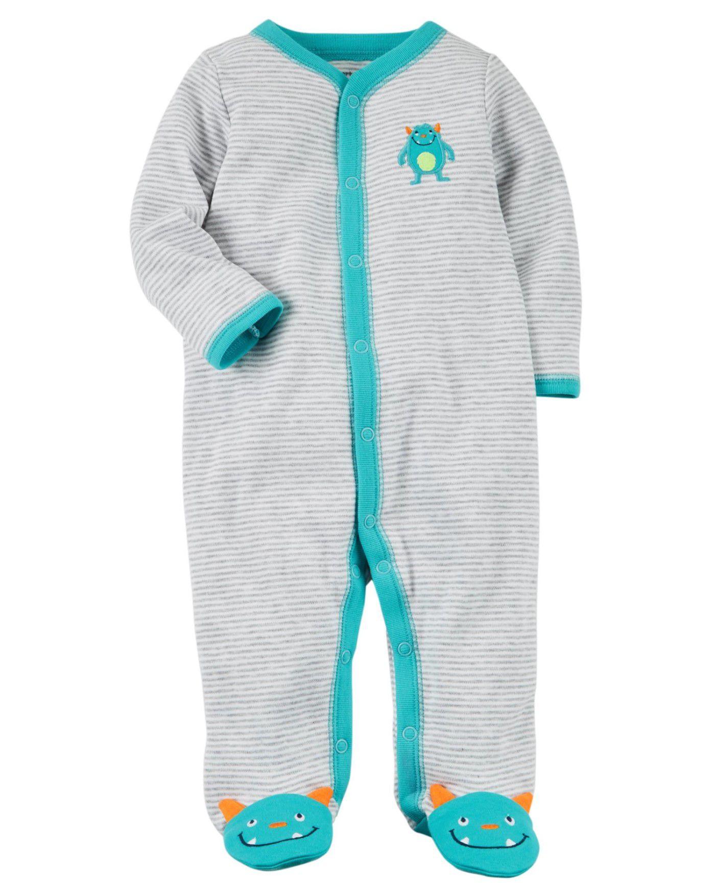Pijama /Macacão Snap-Up Monster Carters