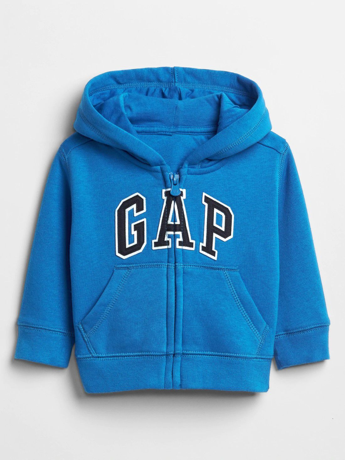 Moletom GAP Azul/ Cinza com Zíper