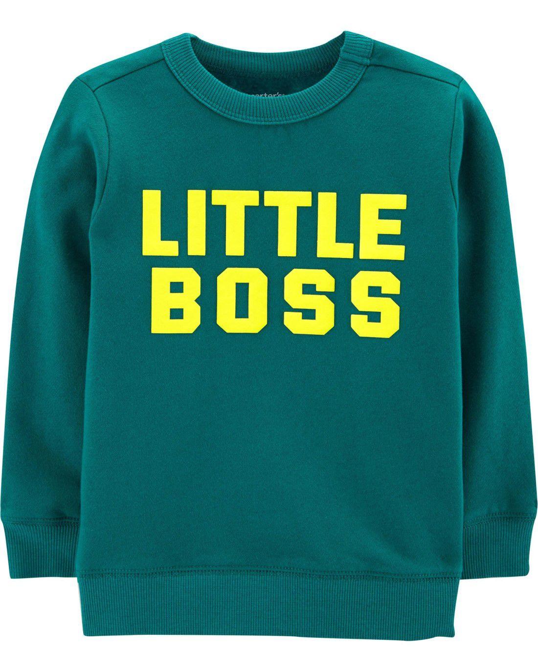 Moletonzinho Verde Little Boss