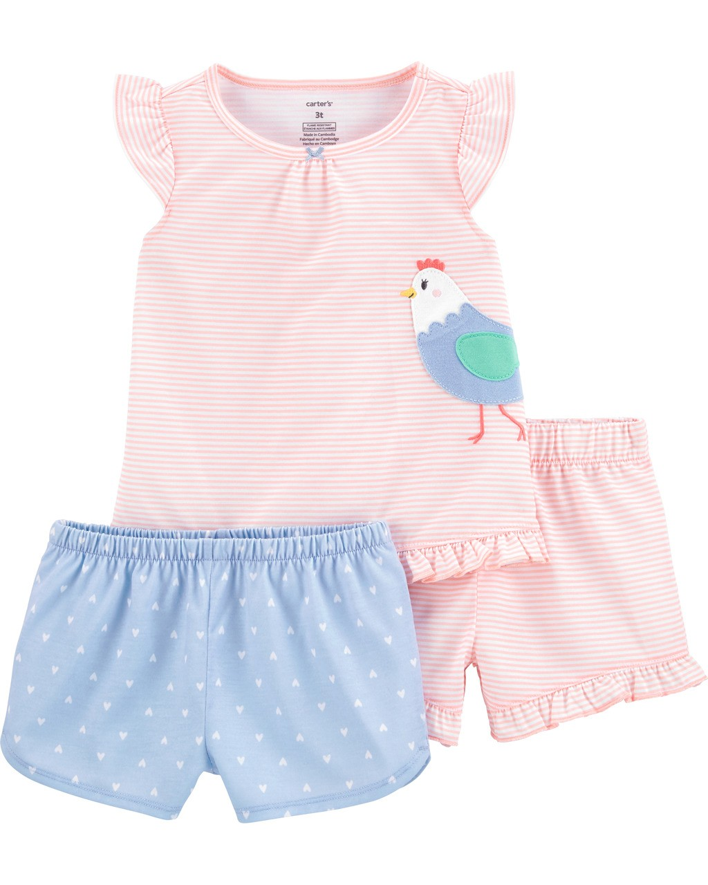Pijama Galinha com 3 peças