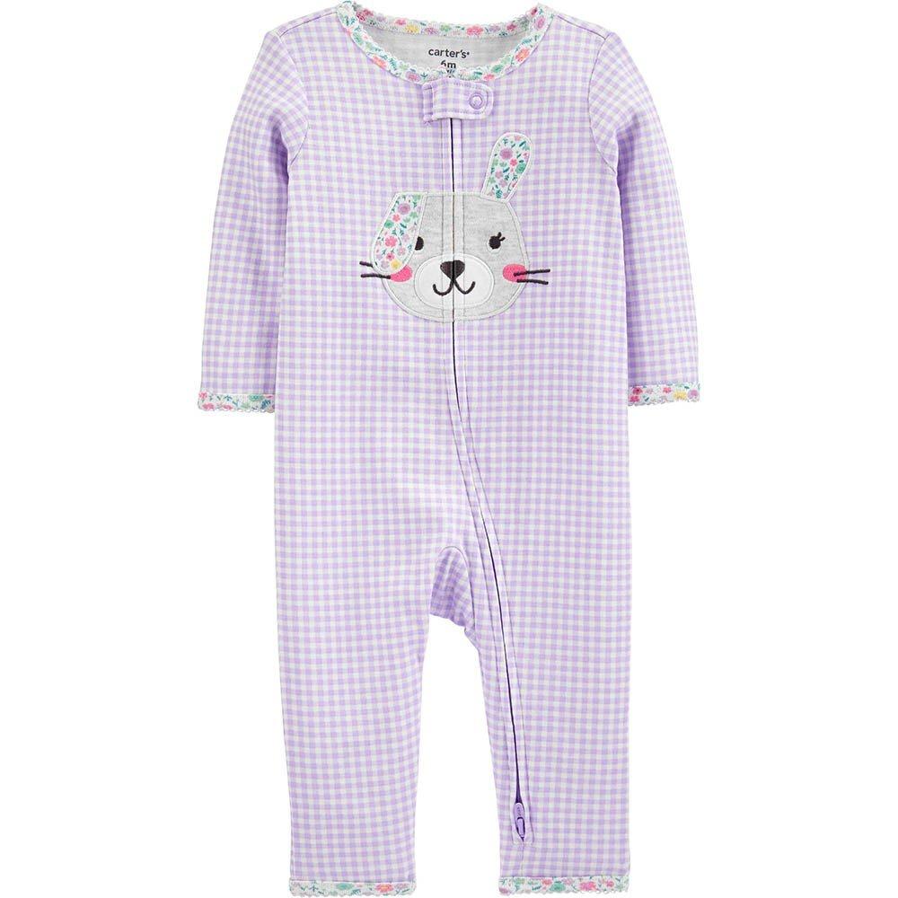 Pijama lilás Xadrez Coelhinho Carters