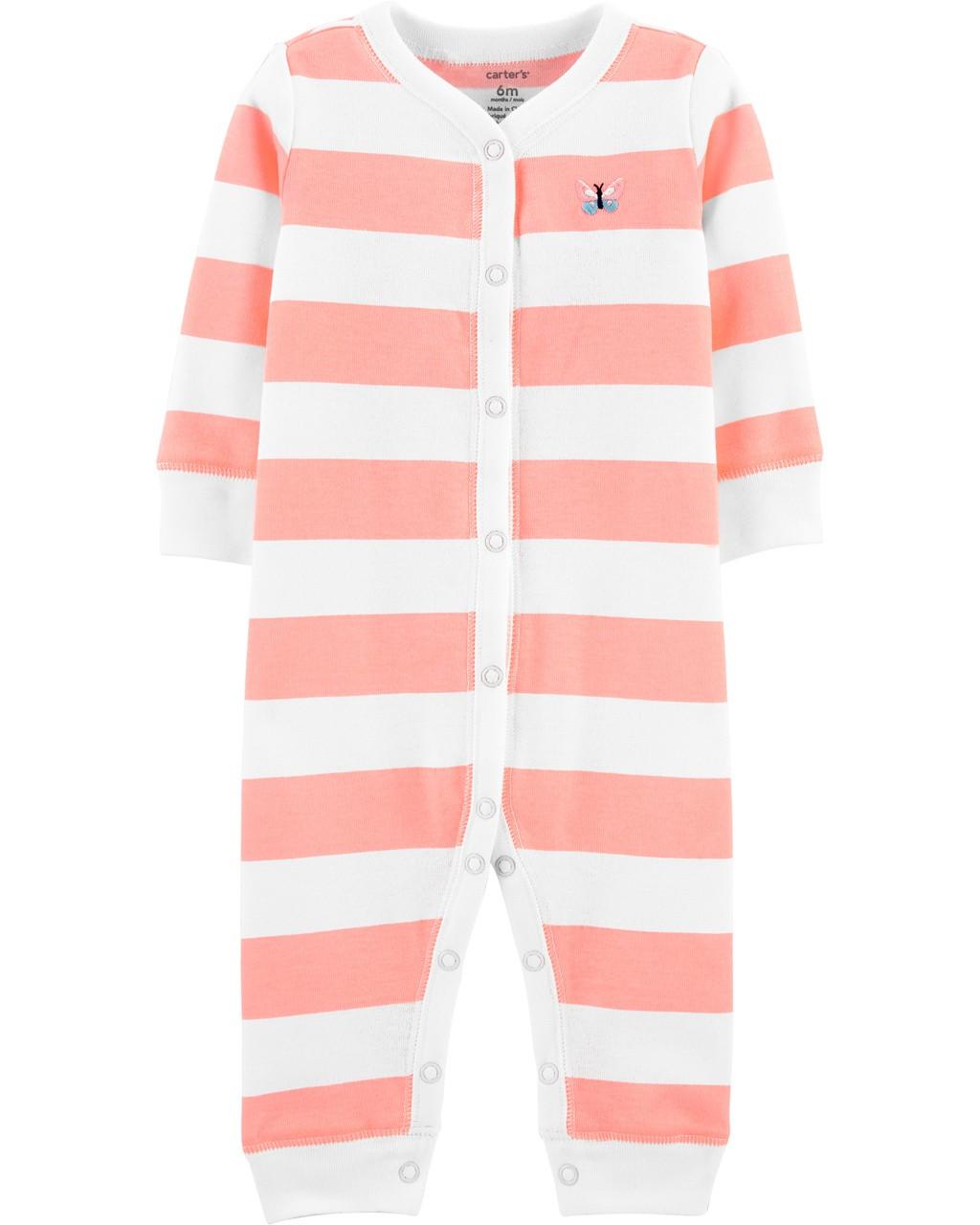 Pijama listrado Borboleta Carters