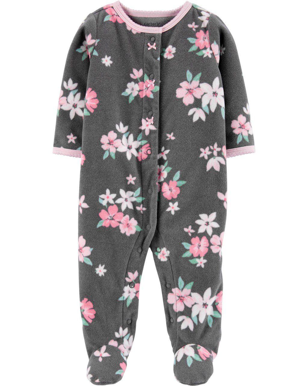 Pijama / Macacão Carters Floral Fleece