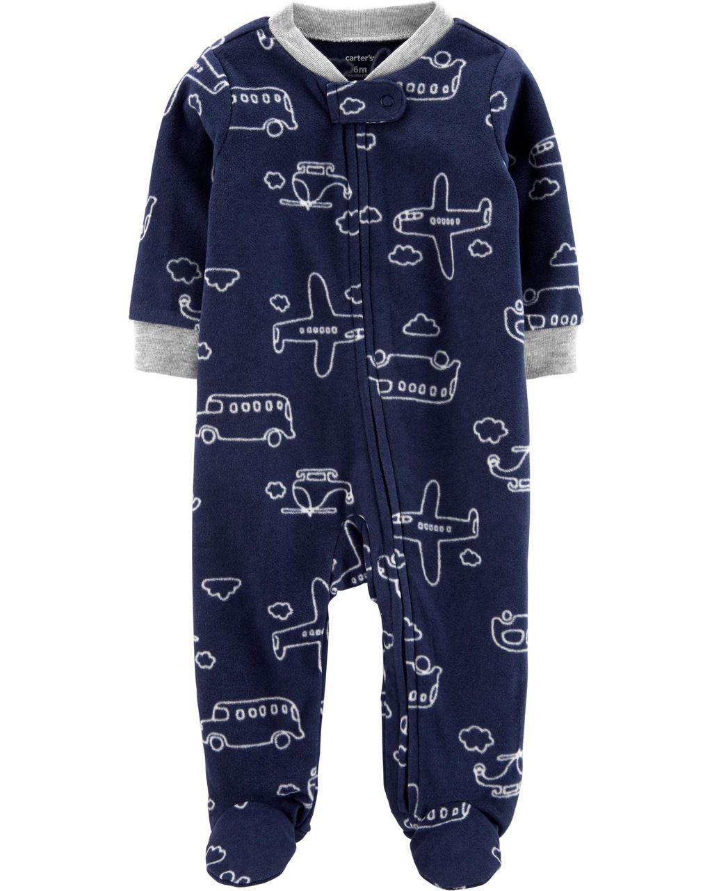 Pijama / Macacão Carters Transporte Fleece