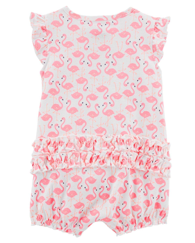 Romper Carter's Flamingo Pink