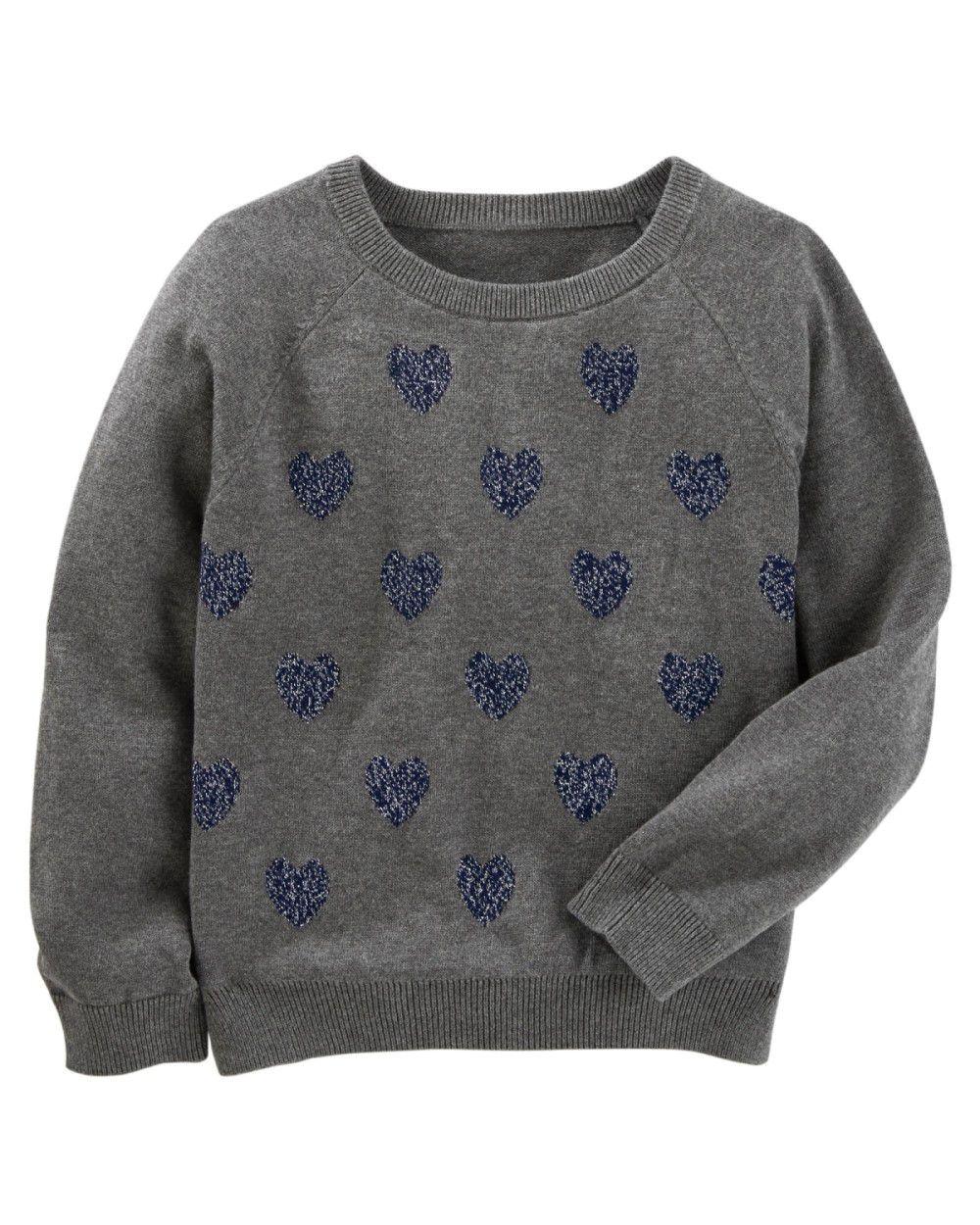 Sweater OshKosh Corações Metálicos