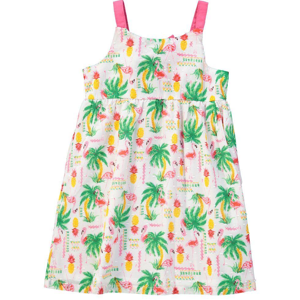 Vestido Abacaxis e Flamingos