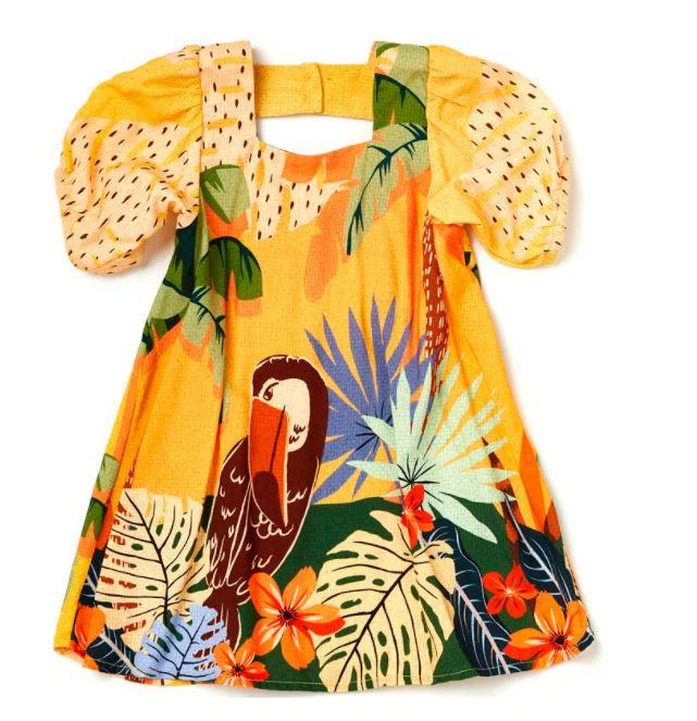 Vestido Amarelo Tucano Camu Camu
