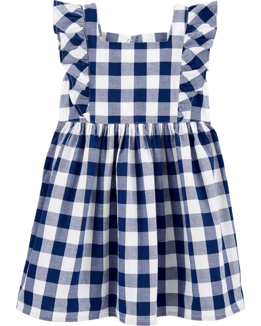 Vestido Azul Xadrez Oshkosh