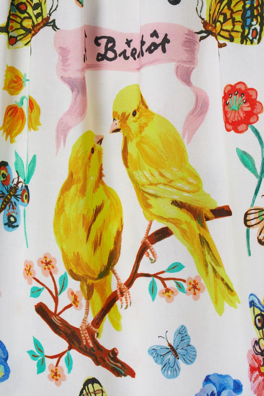 Vestido Pássaros H&M
