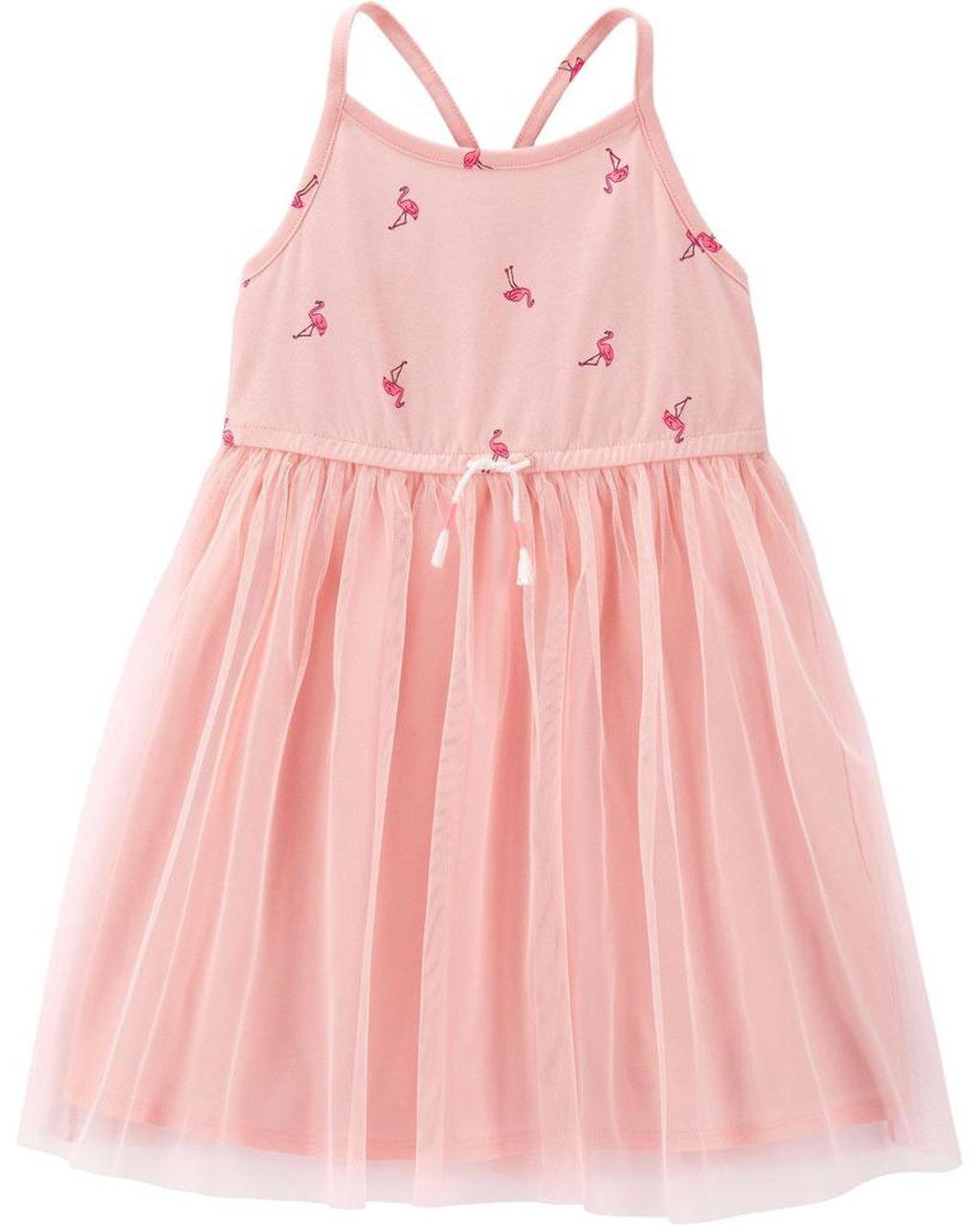 Vestido Tulle Flamingos Oshkosh