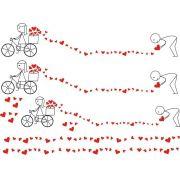 Decalque para Porcelana - Amor Bicicleta