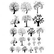 Decalque para Porcelana - Árvores